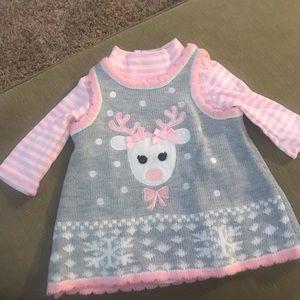 Bonnie Baby 2-piece onesie and jumper dress
